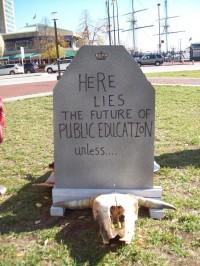 Here lies public education